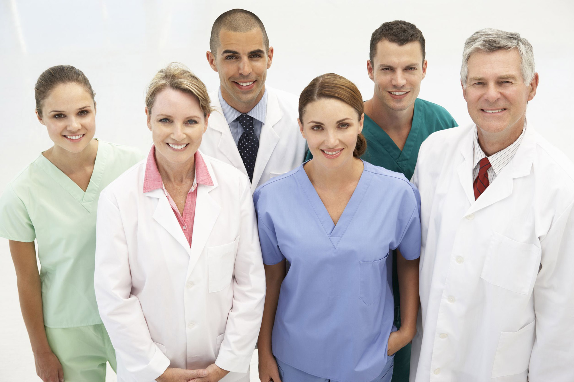 We employ a number of health professionals from a large variety of fields.